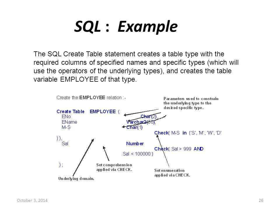 SQL : Example