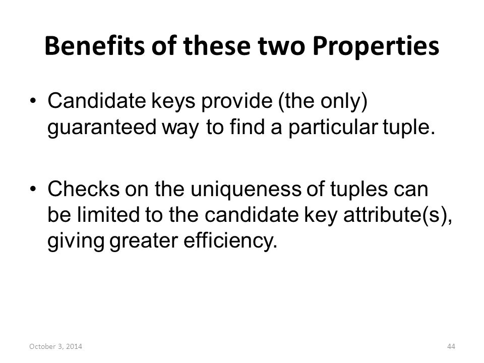 Benefits of these two Properties