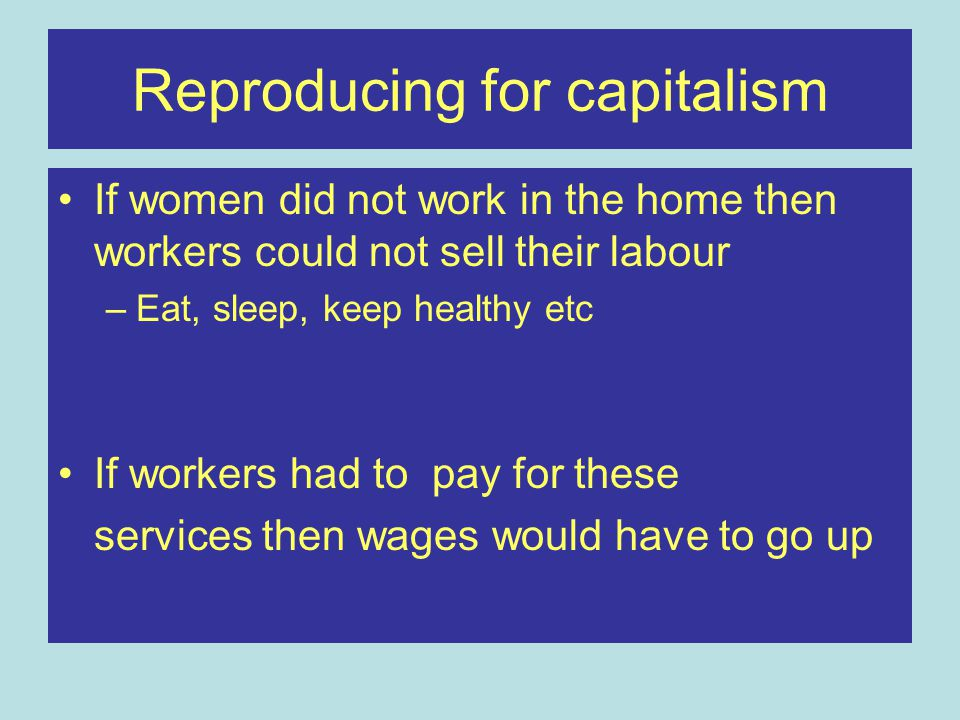 Reproducing for capitalism