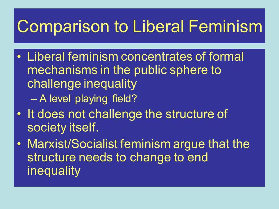 Comparison to Liberal Feminism