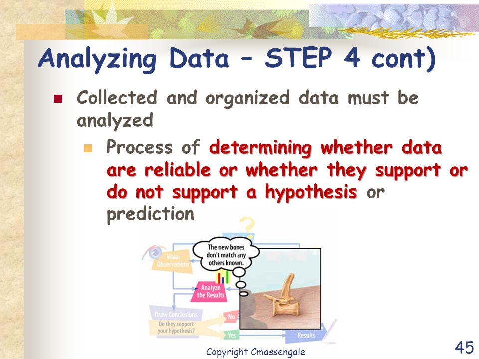 Analyzing Data – STEP 4 cont)