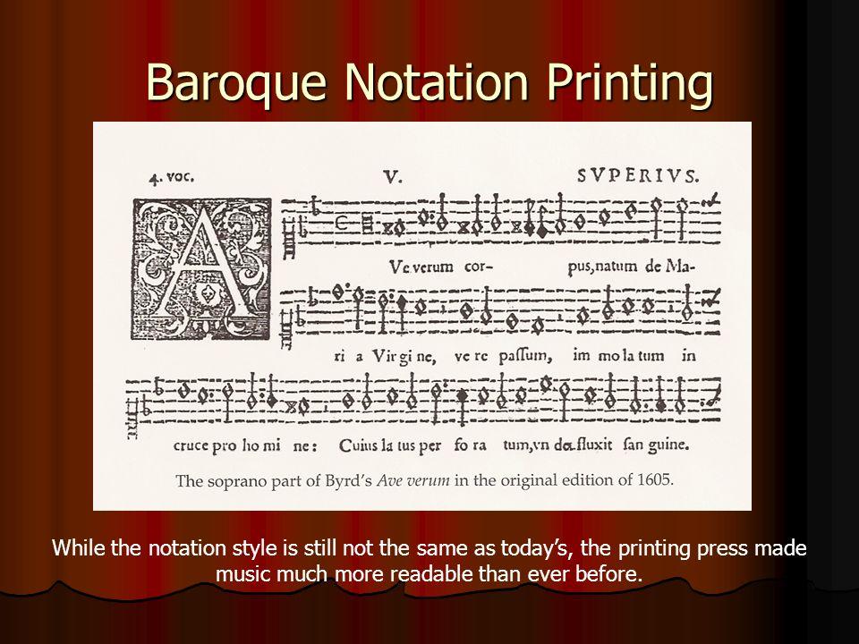 Baroque Notation Printing