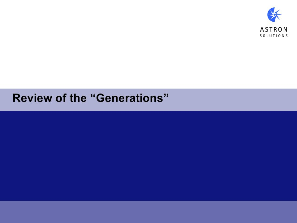 Review of the Generations