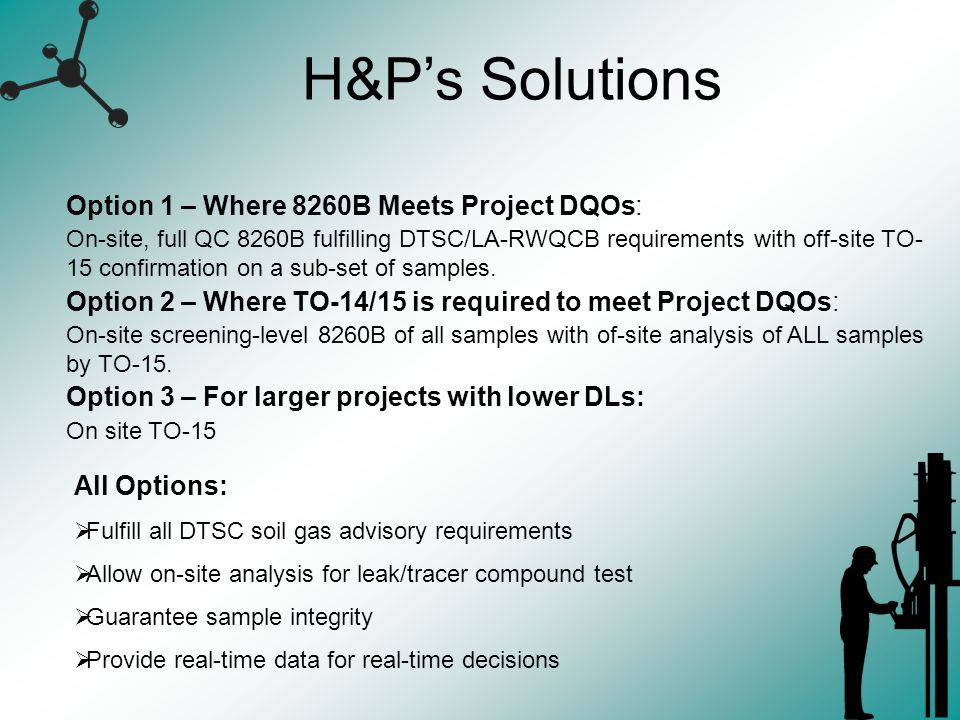 H&P's Solutions Option 1 – Where 8260B Meets Project DQOs: