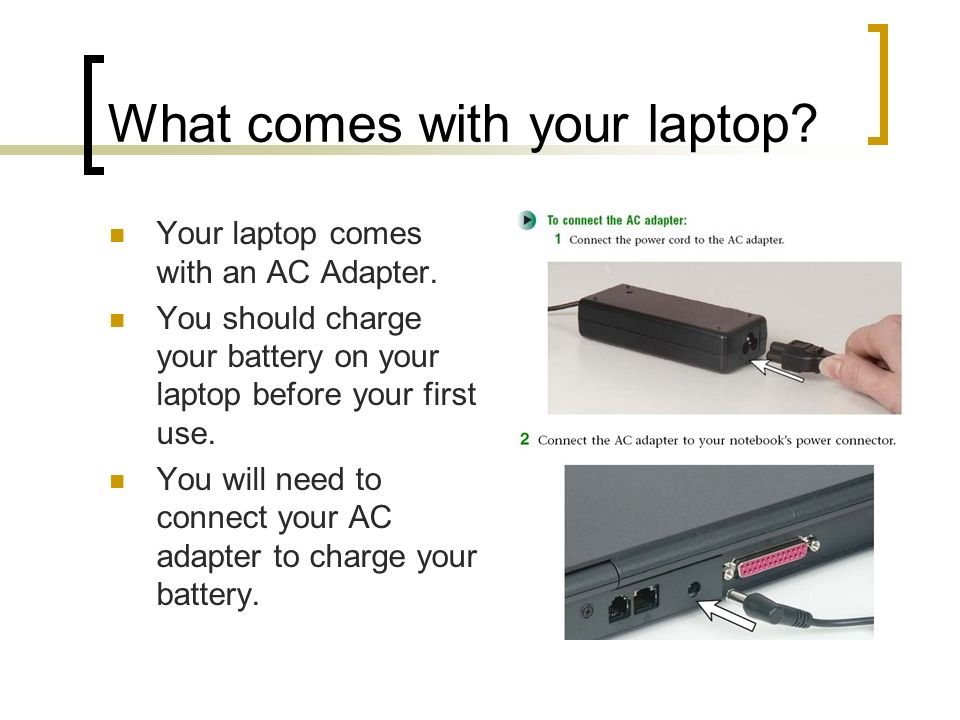 What comes with your laptop