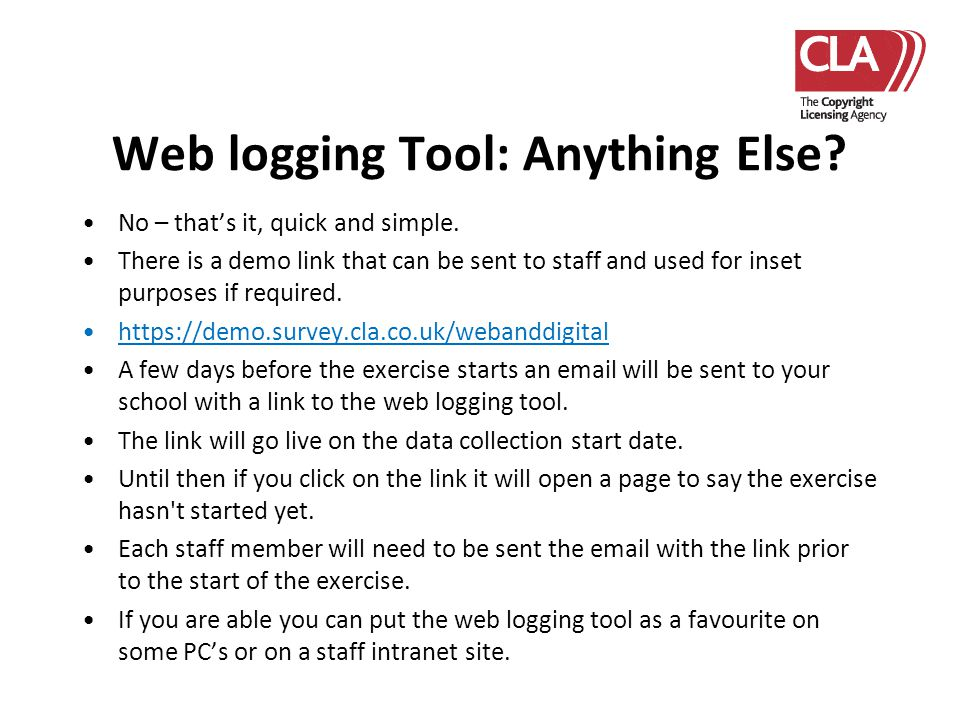 Web logging Tool: Anything Else