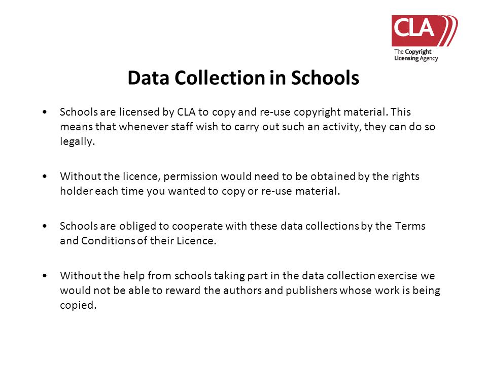Data Collection in Schools