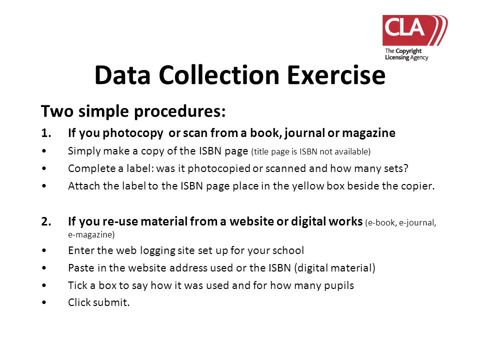 Data Collection Exercise