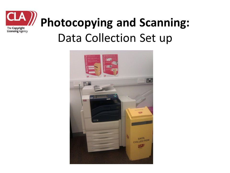 Photocopying and Scanning: Data Collection Set up