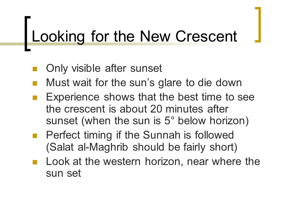 Looking for the New Crescent