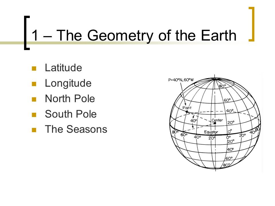 1 – The Geometry of the Earth