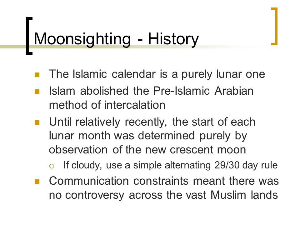 Moonsighting - History