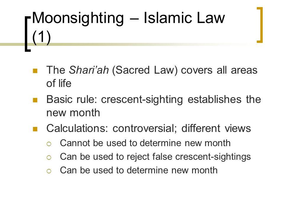 Moonsighting – Islamic Law (1)