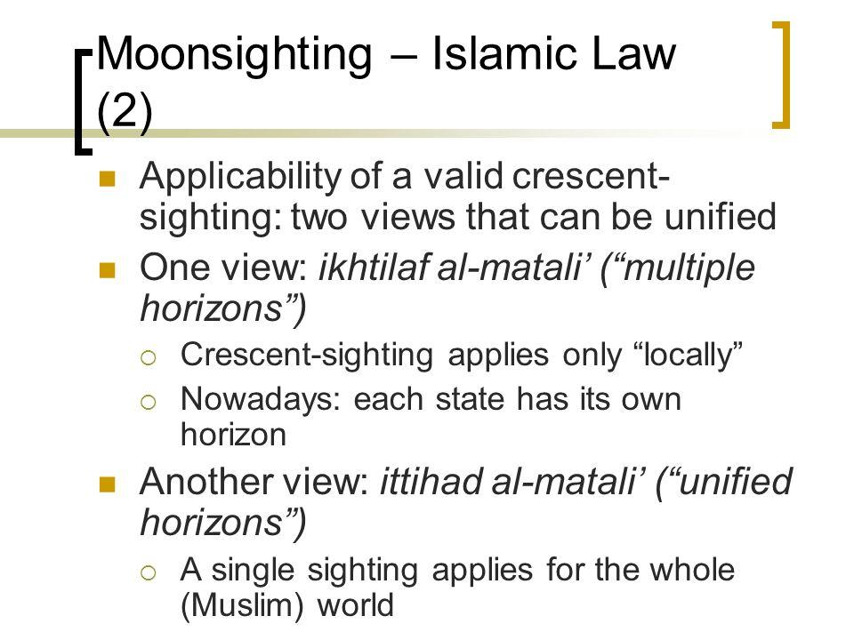 Moonsighting – Islamic Law (2)