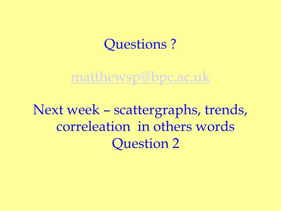 Questions . matthewsp@bpc.ac.uk.