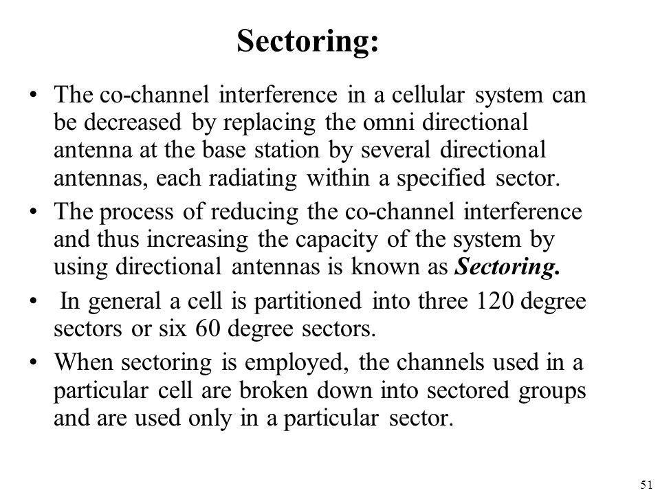 Sectoring: