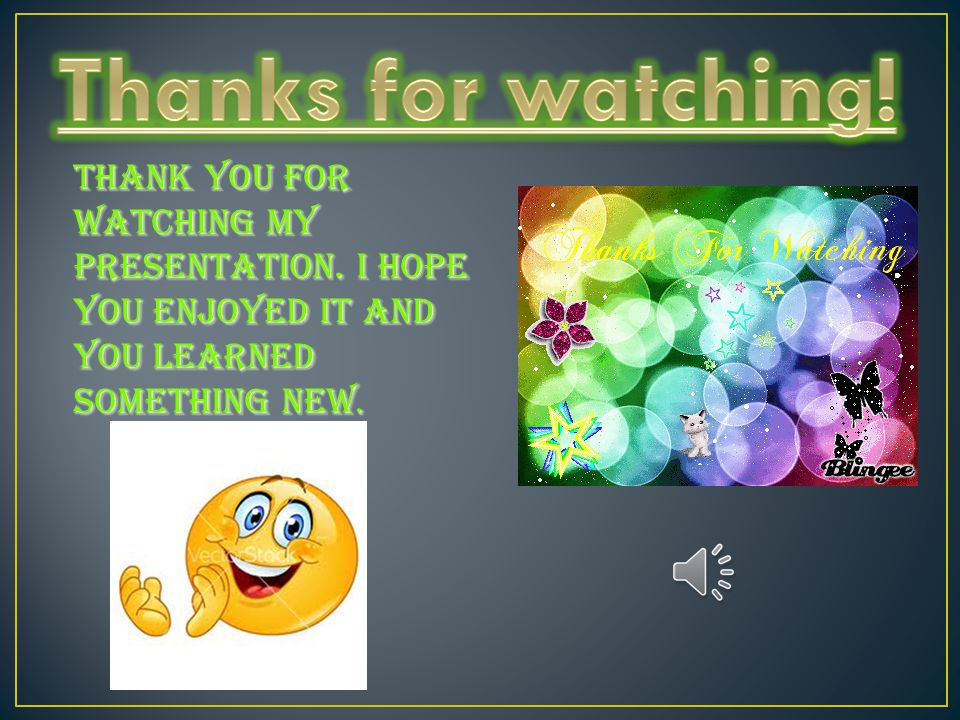 Thanks for watching. Thank you for watching my presentation.