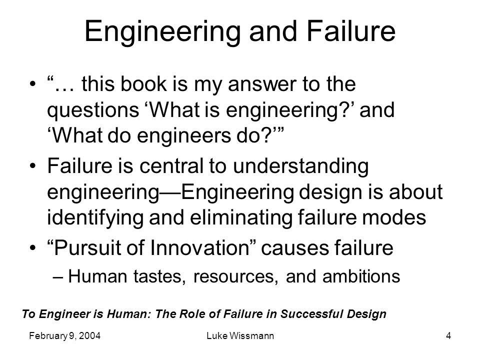 Engineering and Failure