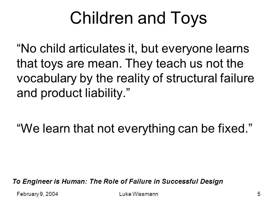 Children and Toys