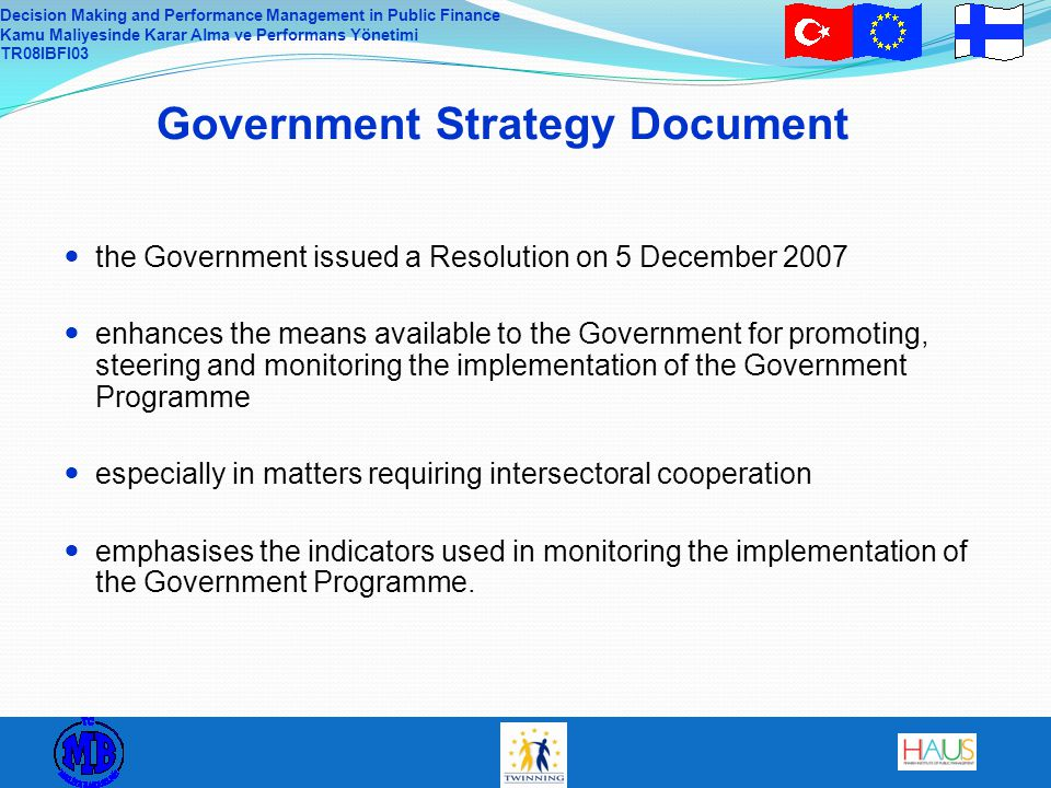 Government Strategy Document
