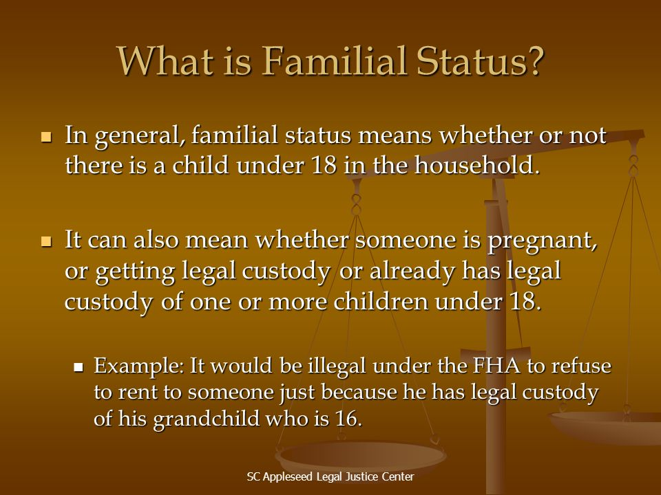 What is Familial Status