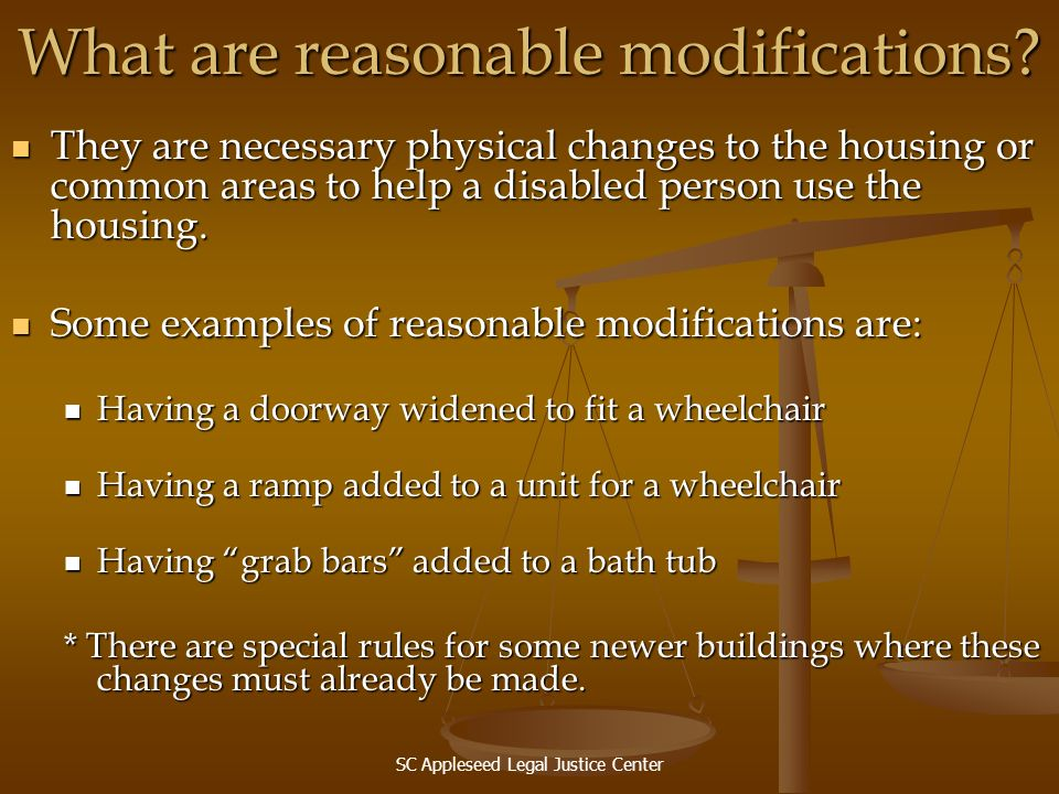 What are reasonable modifications