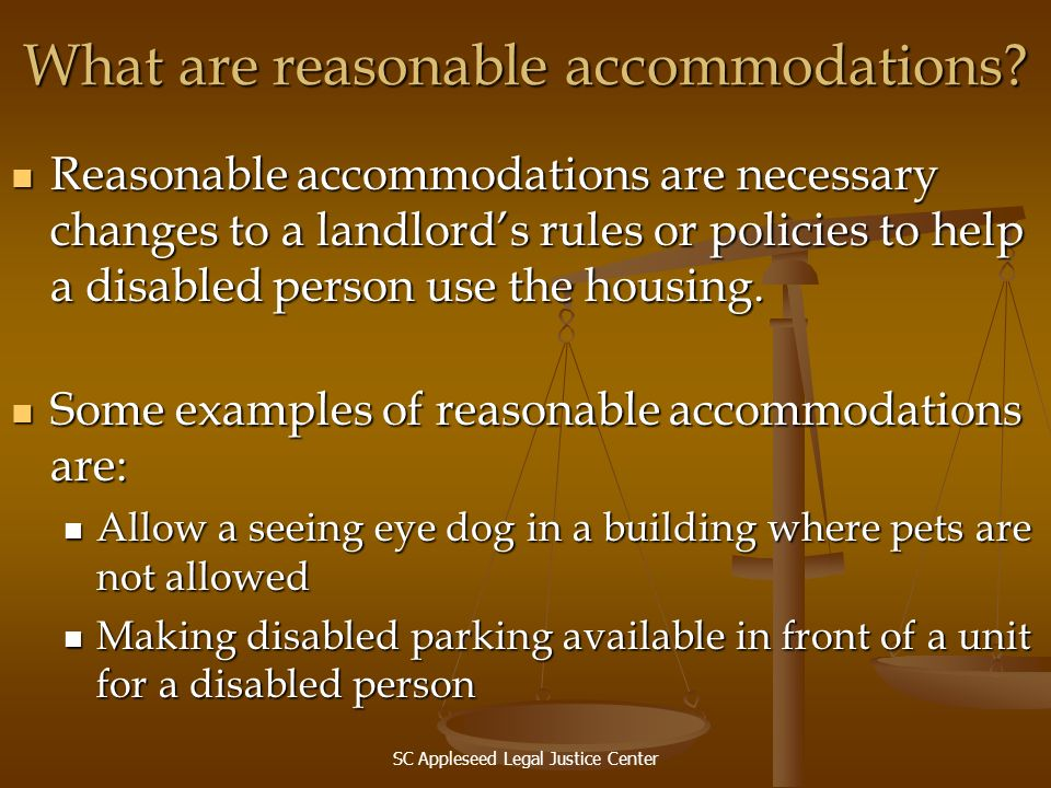What are reasonable accommodations