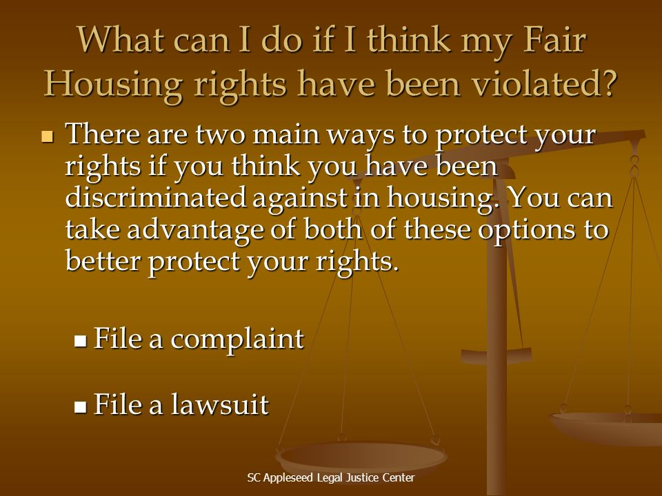 What can I do if I think my Fair Housing rights have been violated
