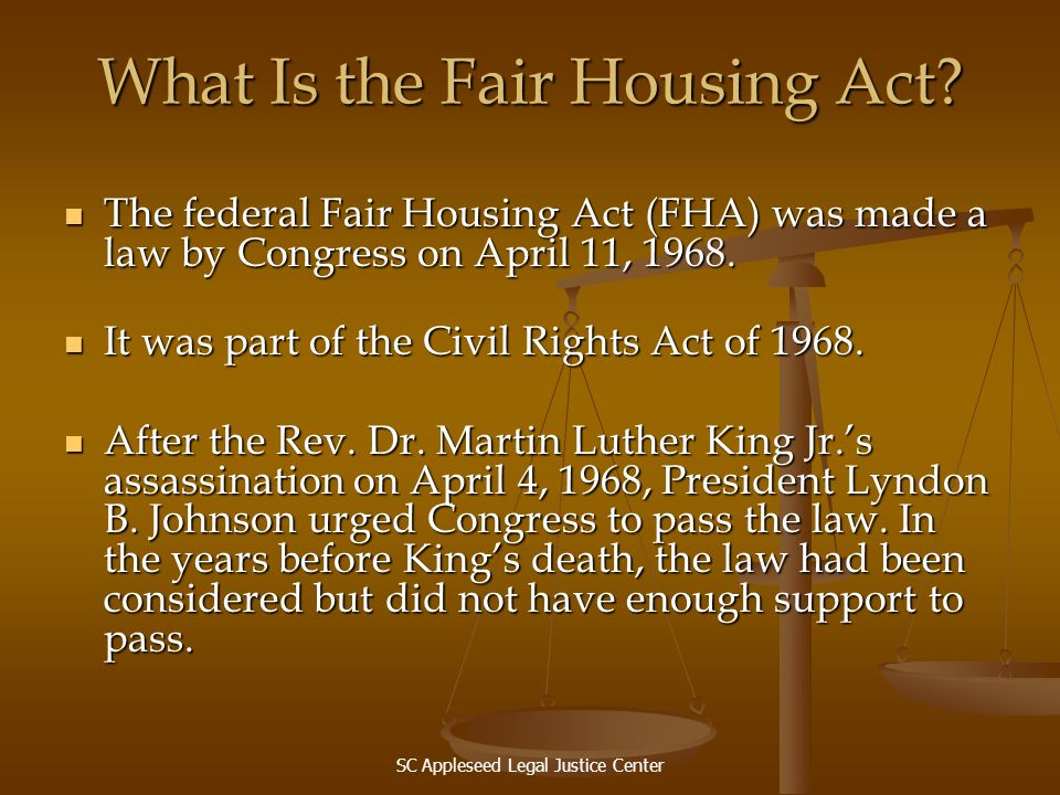 What Is the Fair Housing Act