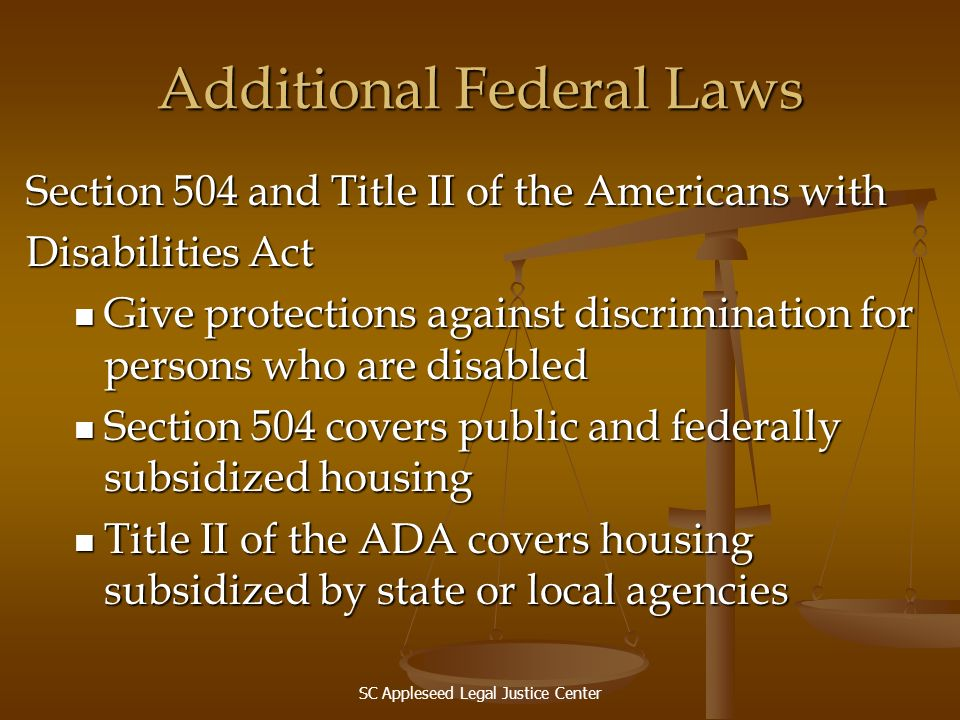 Additional Federal Laws
