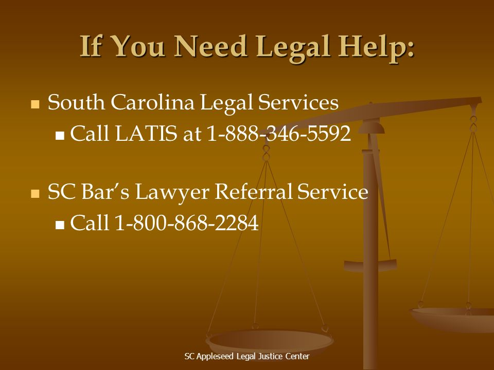 SC Appleseed Legal Justice Center