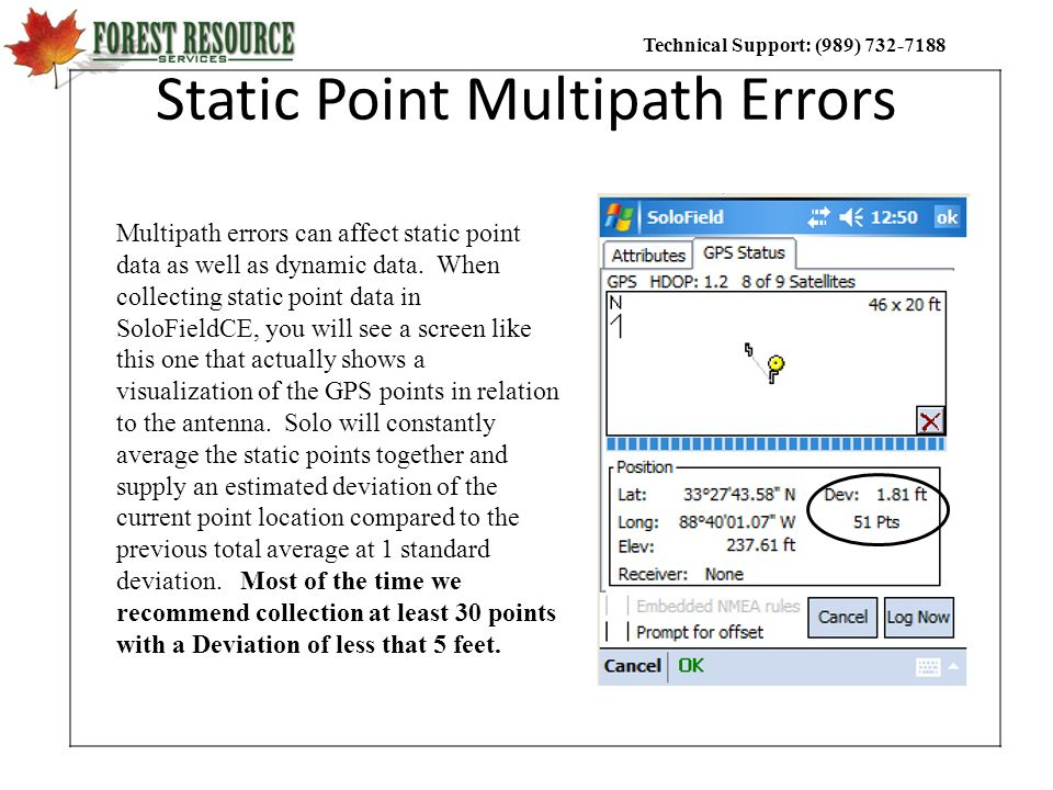 Static Point Multipath Errors