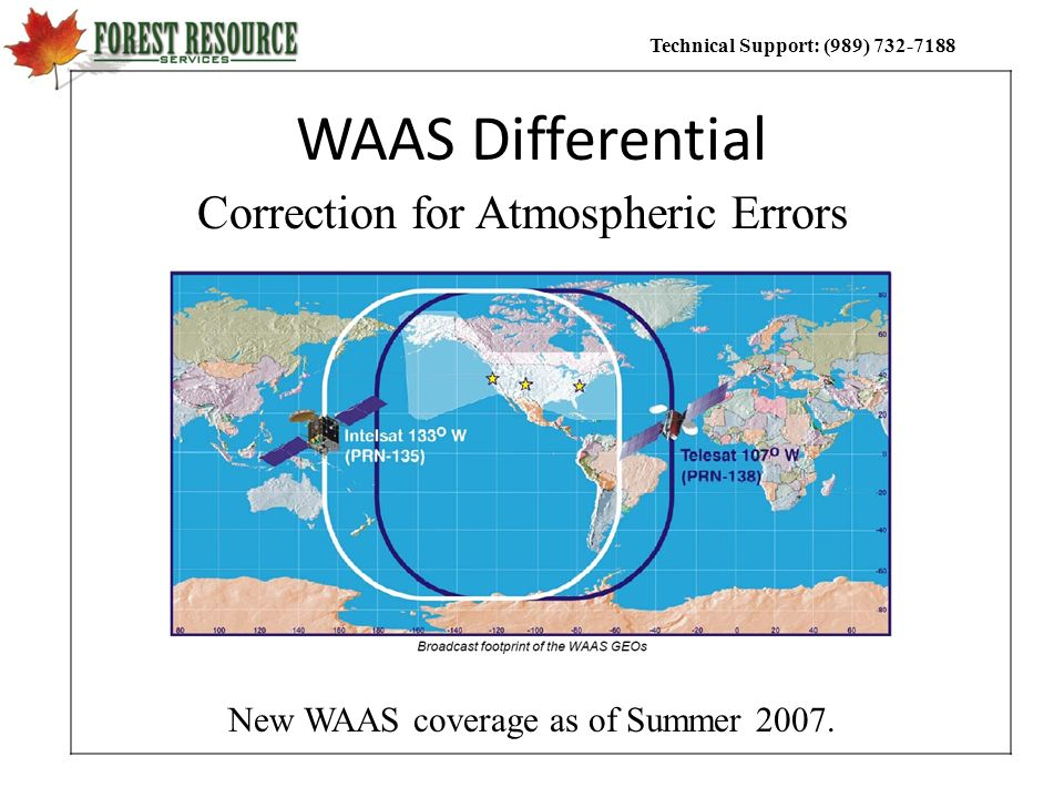 New WAAS coverage as of Summer 2007.