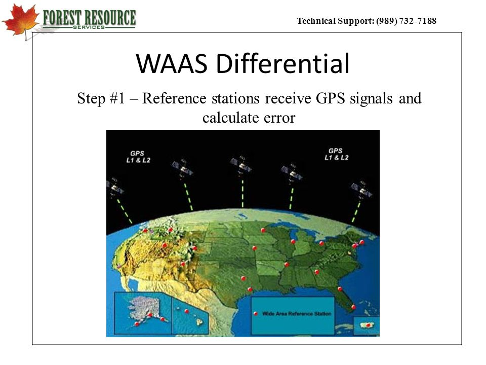 Step #1 – Reference stations receive GPS signals and calculate error