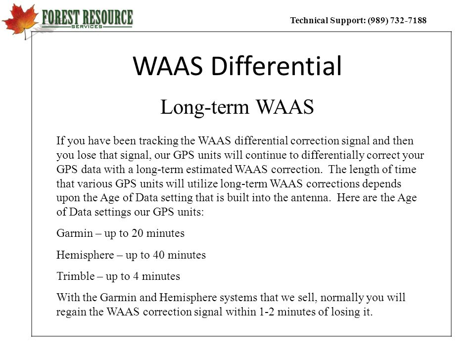 WAAS Differential Long-term WAAS