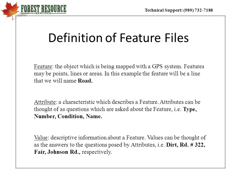 Definition of Feature Files