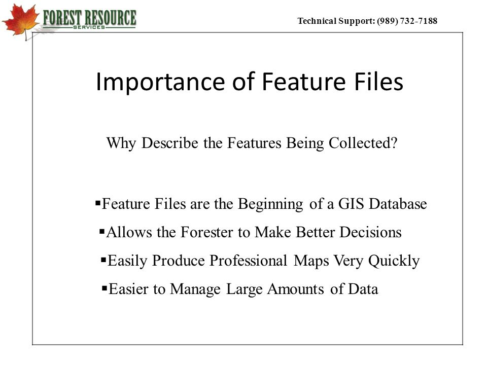 Importance of Feature Files