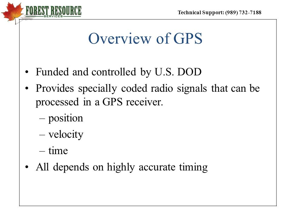 Overview of GPS Funded and controlled by U.S. DOD