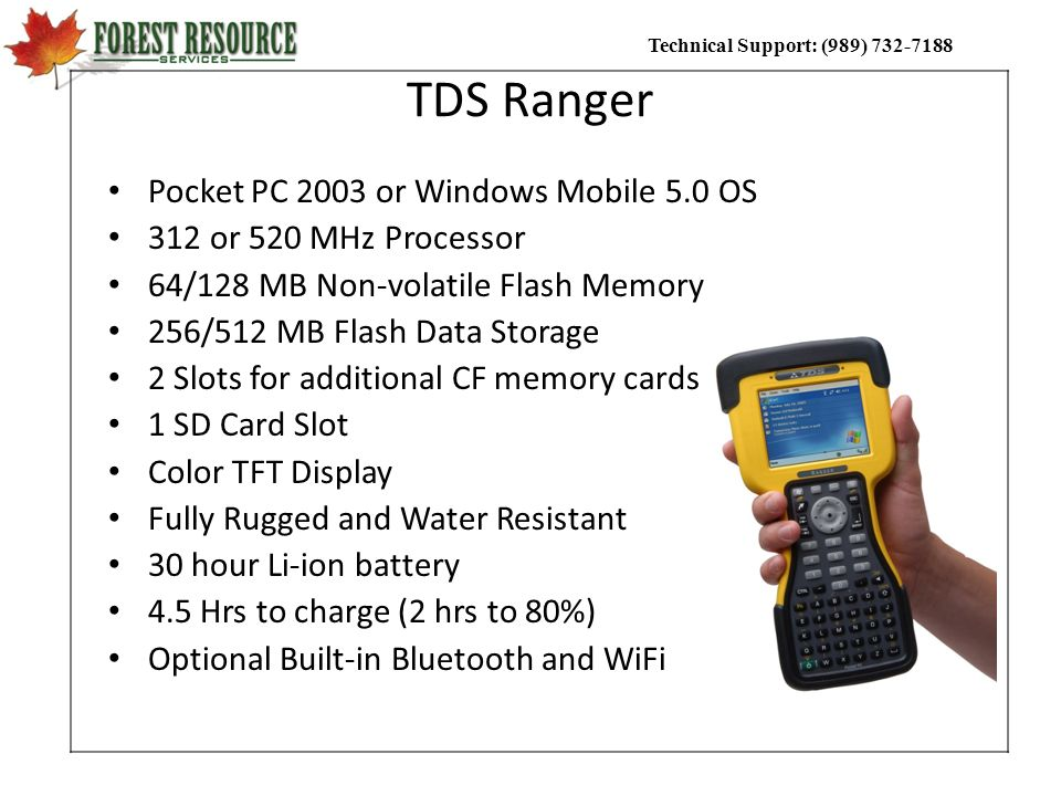 TDS Ranger Pocket PC 2003 or Windows Mobile 5.0 OS