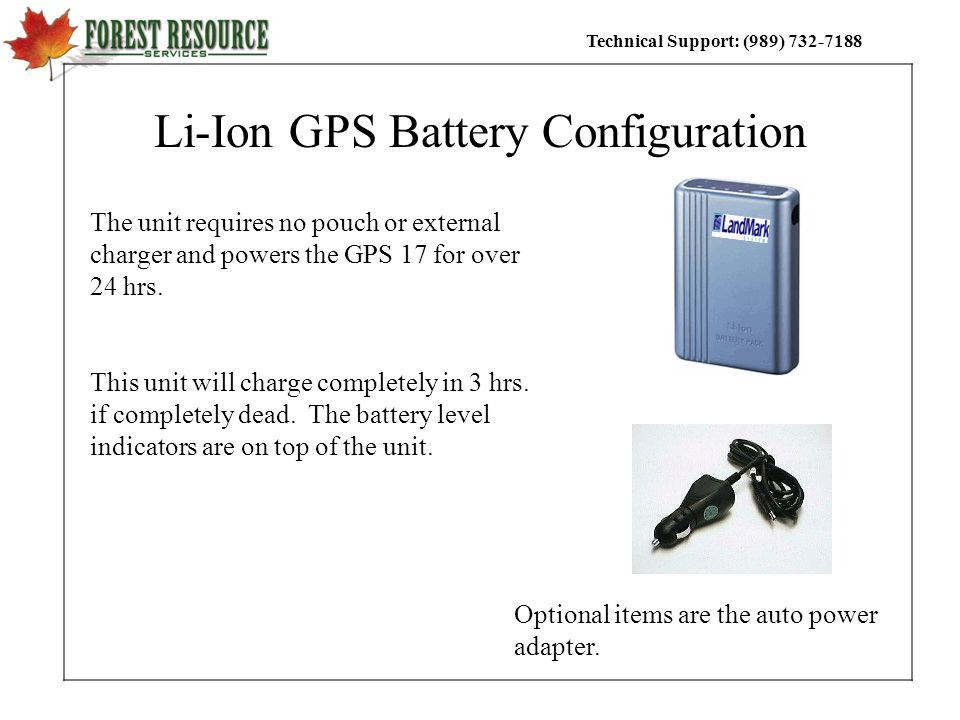 Li-Ion GPS Battery Configuration