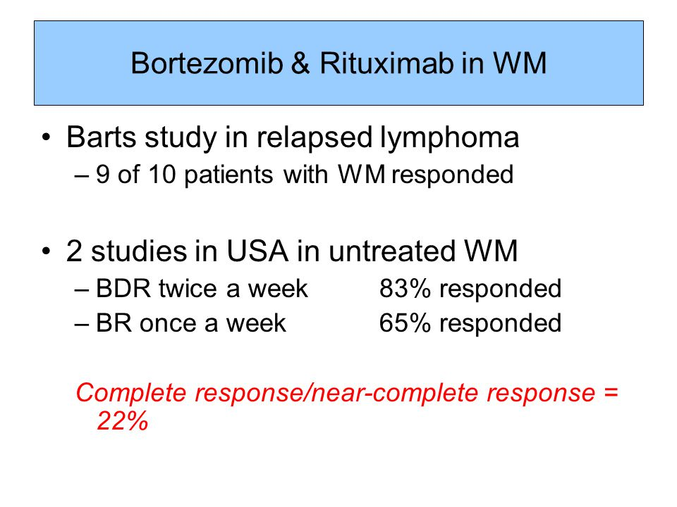 Bortezomib & Rituximab in WM