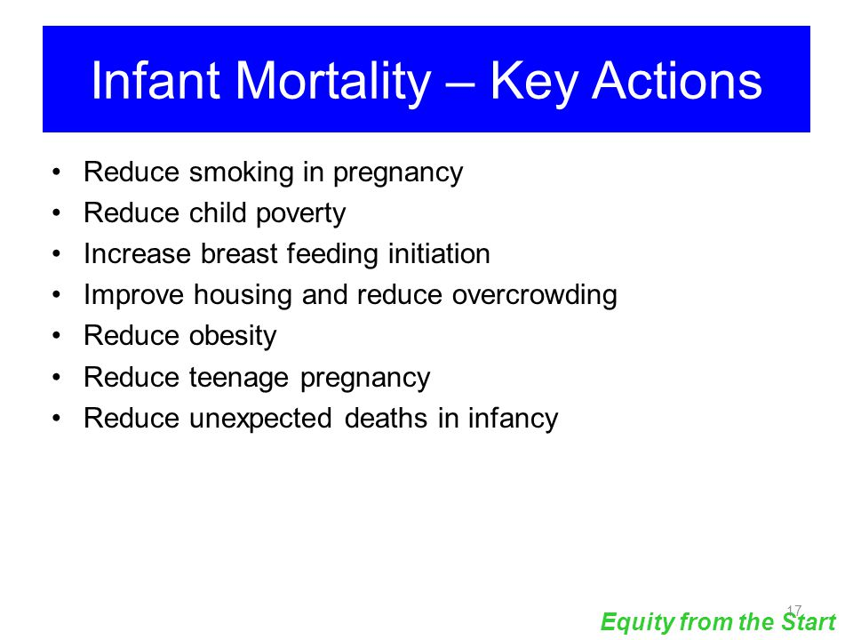 Infant Mortality – Key Actions