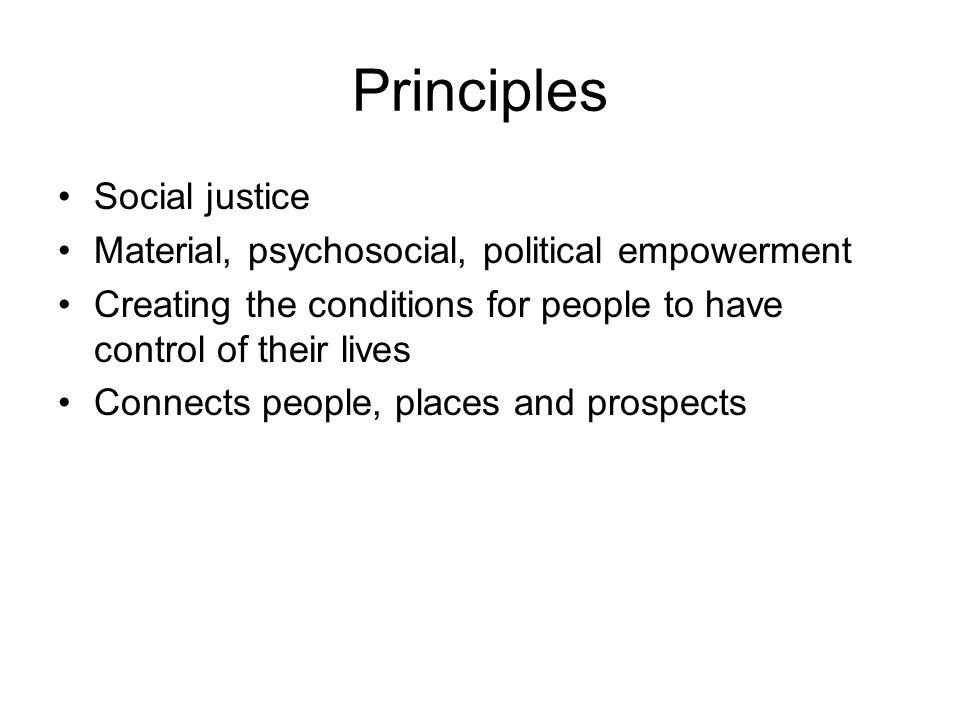 Principles Social justice