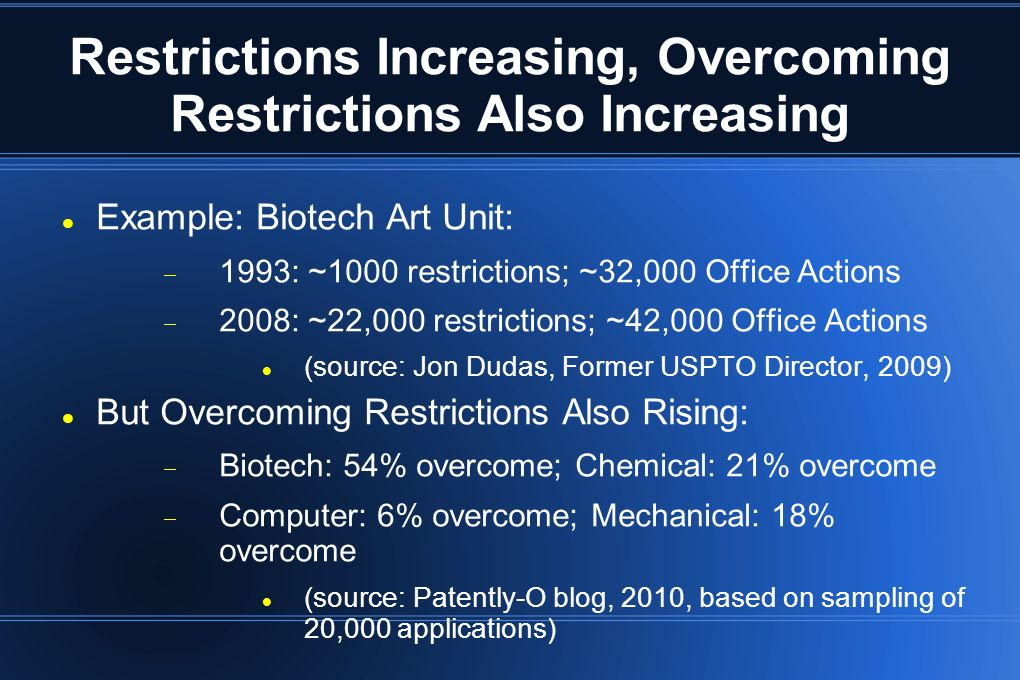 Restrictions Increasing, Overcoming Restrictions Also Increasing