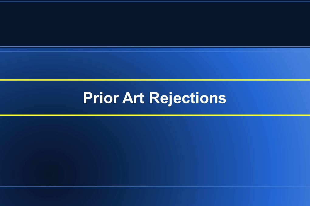 Prior Art Rejections