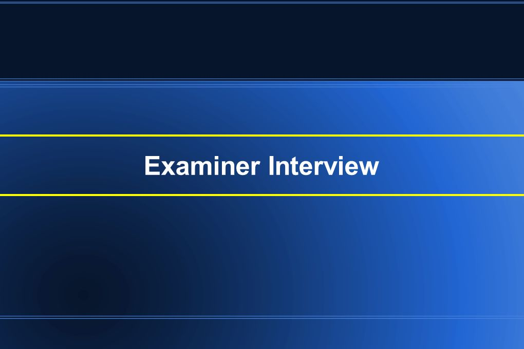 Examiner Interview