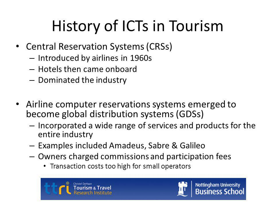 History of ICTs in Tourism
