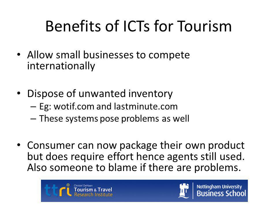 Benefits of ICTs for Tourism