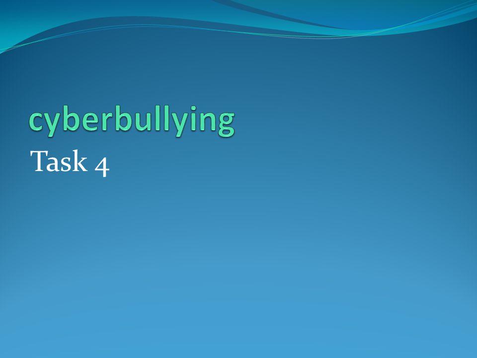 cyberbullying Task 4