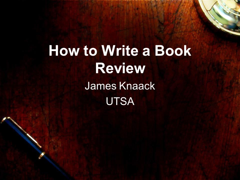 how to write a book review for school